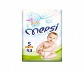 Mepsi Детские одноразовые подгузники с рельефным внутренним слоем Soft размер S 4-9 кг 54 шт.