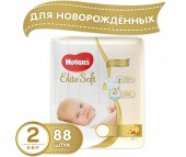 Huggies Подгузники Elite Soft Mega 2 (4-7 кг) 88 шт.