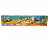 Fun Dough Набор пластилина 4 банки + 1 бонус