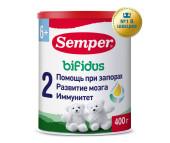 Semper Молочная смесь Bifidus Nutradefense 2 6-12 мес. 400 г