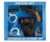 Schrodel Набор Полиция с игрушечным пистолетом Interpol38 Junior 12-Shot