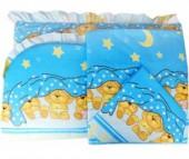 Комплект в кроватку Папитто Борт раздельный высокий + постельное белье 7215
