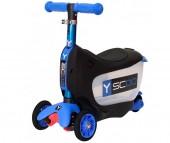Трехколесный самокат Y-Scoo Mini Jump&Go 3 в 1