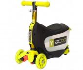 Трехколесный самокат Y-Scoo Mini Jump&Go 3 в 1 со светящимися колесами