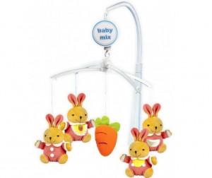 Купить Мобиль Baby Mix Кролики с морковкой