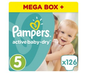 Pampers ���������� Active Baby-Dry �.5 (11-18 ��) 126 ��.