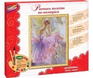Купить Креатто Роспись холста по номерам Балерина