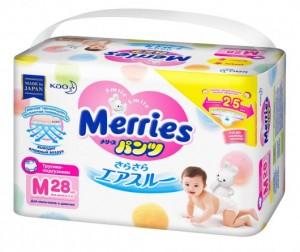 Merries Подгузники-трусики M (6-10 кг) 28 шт.