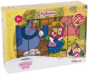 Купить Развивающая игрушка Step Puzzle Кубики Попугай Кеша 12 шт.
