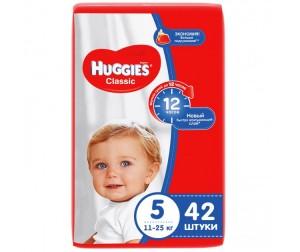 Huggies Подгузники Classic Jumbo 5 (11-25 кг) 42 шт.