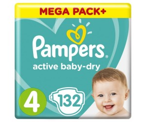 Pampers Подгузники Active Baby Dry Maxi р.4 (8-14 кг) 132 шт.