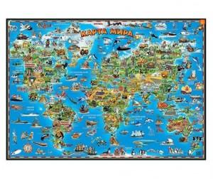 Купить Геоцентр Детская карта мира настольная