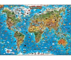 Купить Геоцентр Карта мира для детей настенная 130 см