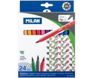 Купить Фломастеры Milan 610 24 цвета