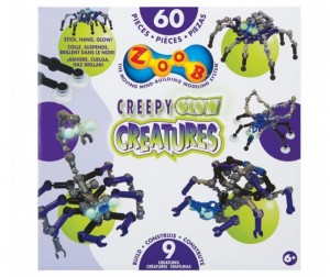 Конструктор Zoob Glow Creepy Creatures 60 элементов