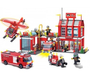 Конструктор Enlighten Brick Fire Rescue 911 (980 элементов)