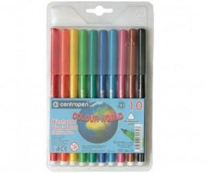 Купить Фломастеры Centropen Набор Colour world 10 цветов