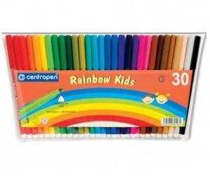 Купить Фломастеры Centropen Набор Rainbow Kids 30 цветов