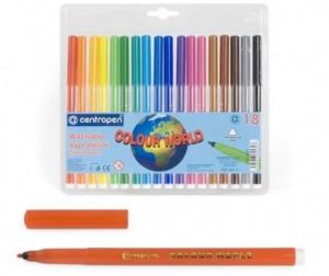 Купить Фломастеры Centropen Набор Colour world 30 цветов