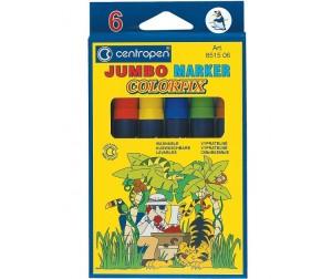 Купить Фломастеры Centropen Набор Colorfix Jumbo 6 цветов