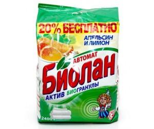 Купить Biolane Стиральный порошок Апельсин и лимон Автомат 2.4 кг