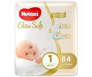 Huggies Подгузники Elite Soft 1 (до 5 кг) 84 шт. Суперцены  Распродажи и Акции