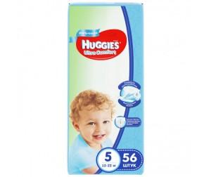 Huggies Подгузники Ultra Comfort Mega для мальчиков 5 (12-22 кг) 56 шт.
