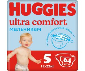Huggies ���������� Ultra Comfort Giga Pack ��� ��������� 5 (12-22 ��) 64 ��.