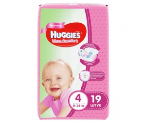 Huggies ���������� Ultra Comfort Conv Pack ��� ������� 4 (8-14 ��) 19 ��.
