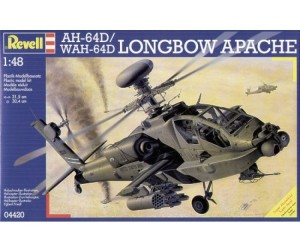 Конструктор Revell Вертолет Apache AH-64 D Brit. Army/US Army update (184 элемента)