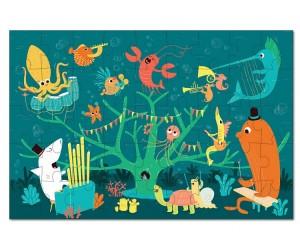 Купить Krooom Игрушки из картона пазл Морские животные