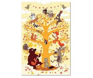 Купить Krooom Игрушки из картона: пазл Лесные животные