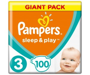 Pampers Подгузники Sleep & Play Midi р.3 (4-9 кг) 100 шт.