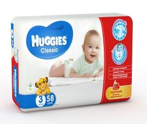 Huggies Подгузники Classic Jumbo 2 (4-9 кг) 58 шт.