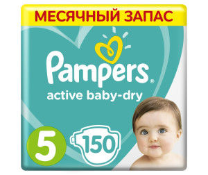 Pampers Подгузники Active Baby-Dry р.5 (11-18 кг) 150 шт.