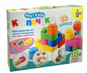 Купить Конструктор Десятое королевство Для малышей Мягкие кирпичики 14 элементов