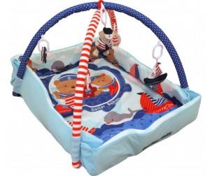 Купить Развивающий коврик Baby Mix Мишка на волнах с бортиками