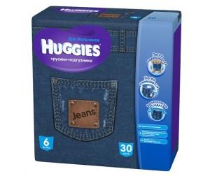 Huggies Подгузники-трусики для мальчиков Джинс Джамбо 6 (16-22 кг) 30 шт.