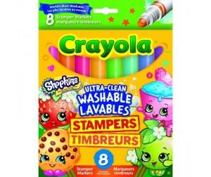 Купить Фломастеры Crayola штампики Шопкинс 8 шт.