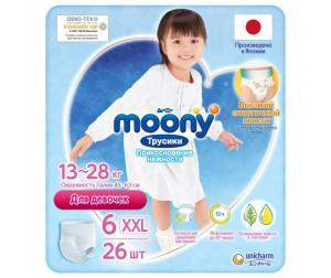 Moony Подгузники-трусики для девочек Big Big (13-25 кг) 26 шт.
