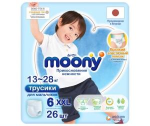 Moony Подгузники-трусики для мальчиков Big Big (13-25 кг) 26 шт.