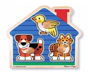 Купить Melissa & Doug Домик с животными 3 эл.