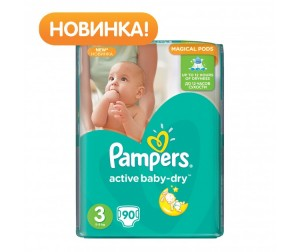 Pampers ���������� Active Baby ������ �.3 (5-9 ��) 90 ��.