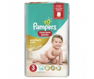 Pampers Подгузники-трусики Premium Care Pants Midi р.3 (6-11 кг) 56 шт.
