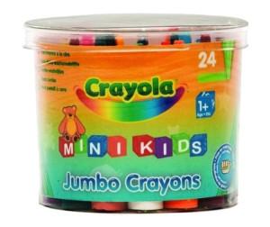 Купить Crayola Мелки восковые для малышей в бочонке 24 шт.