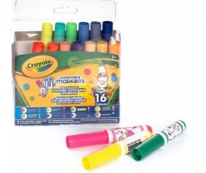 Купить Фломастеры Crayola мини с узорными наконечниками 16 шт.