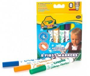 Купить Фломастеры Crayola цветные смывающиеся для малышей
