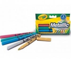 Купить Фломастеры Crayola набор цвета металлик