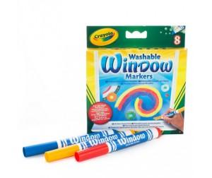 Купить Фломастеры Crayola для рисования по стеклу 8 шт.