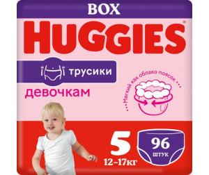 Huggies Подгузники-трусики для девочек 5 (13-17 кг) 96 шт.